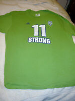 SEATTLE SOUNDERS FC 11 STRONG SZ 2X MENS TEAM TEE T SHIRT GREEN ADIDAS GO-TO