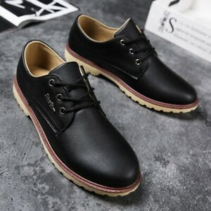 Autumn-men-039-s-leather-shoes-casual-wild-work-shoes-non-slip-breathable-waterproof