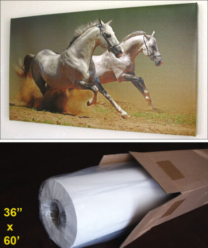 "Inkjet Art Canvas Matte Water Resistant Giclee Printing 36/""x60/' Roll"