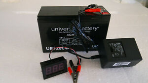 12VOLT-8AH-RECHARGEABLE-SEALED-LEAD-ACID-12V-BATTERY-W-CHARGER-amp-LED-VOLT-METER