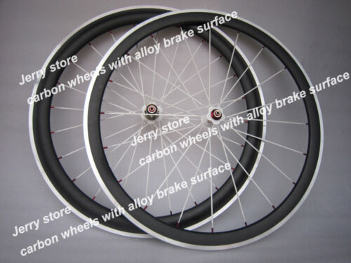 speedcarbon 700c full carbon fiber wheels 50mm 700C with aluminum brake 25width