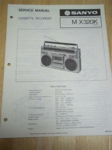 Manuals & Resources Sanyo Service Manual~M X320K Radio Cassette ...