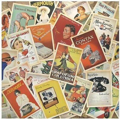 Lot of 32 Vintage Post card Postcard Postcards Advertising History Retro
