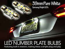 BMW XENON E90 E92 E93 White LED Number Plate Light Bulbs Error Free 39mm samsung