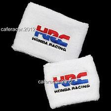 HRC HONDA BRAKE/CLUTCH RESERVOIR SOCKS FLUID TANK COVER WHITE CBR 600RR 1000RR