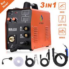 4 In1 Mig 250 Welder Gas Gasless Igbt Arc Lift Tig Mig Welding Machine 110v 220v