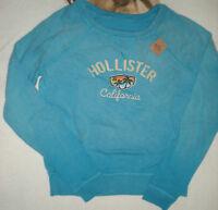 Hollister Indigo Beach Blue Warm Sweatshirt Small L/s