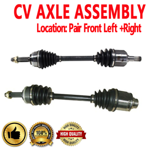 FRONT LEFT /& RIGHT CV Axle Shaft For GALANT 90-92 Standard Transmission VR-4 AWD