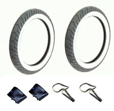 SET 2x Reifen 2,75-16 Mitas MC2 TL/TT 46J Weißwandreifen + Schlauch f. Simson
