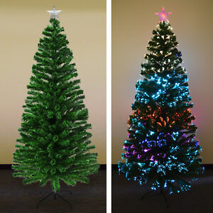 7ft Artificial Christmas Tree w Metal Stand Undecorated ...