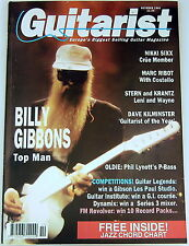 Vintage GUITARIST MAGAZINE 1991 Billy Gibbons ZZ Top Fender P Bass Les Paul SIXX