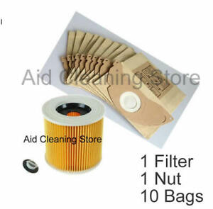 for-Karcher-Wet-amp-Dry-WD2-WD3-500-Vacuum-Cleaner-Filter-amp-10-Dust-Hoover-Bags