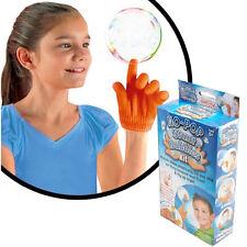 No-Pop Stunt Bubbles Kit Toy Kids Magic Bounce Catch Toss Gloves Bubble Solution