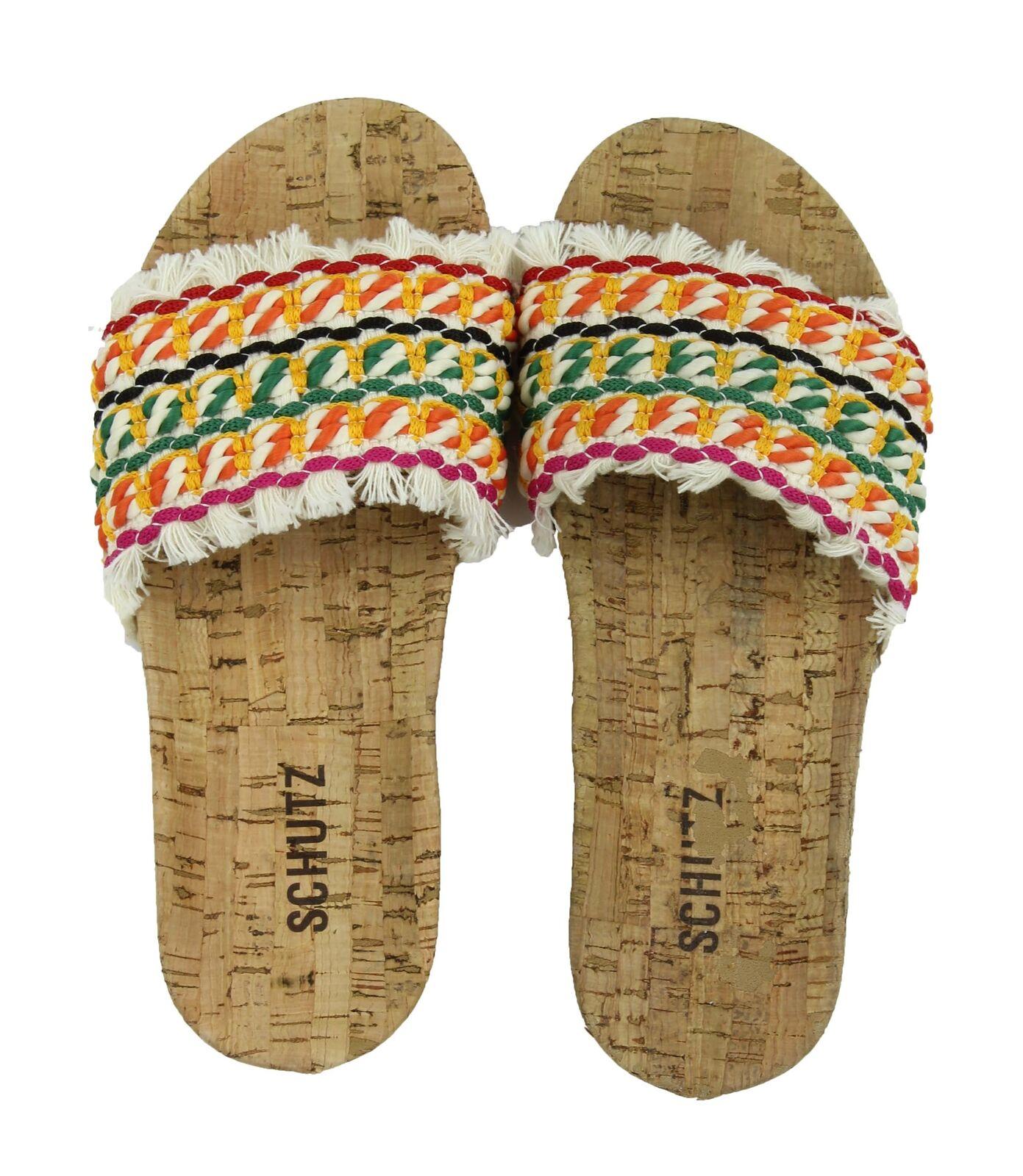 Schutz Damenschuhe Kahara Slide Sandale- Multi,6) New With Defect (Natural Multi,6) Sandale- eda25a