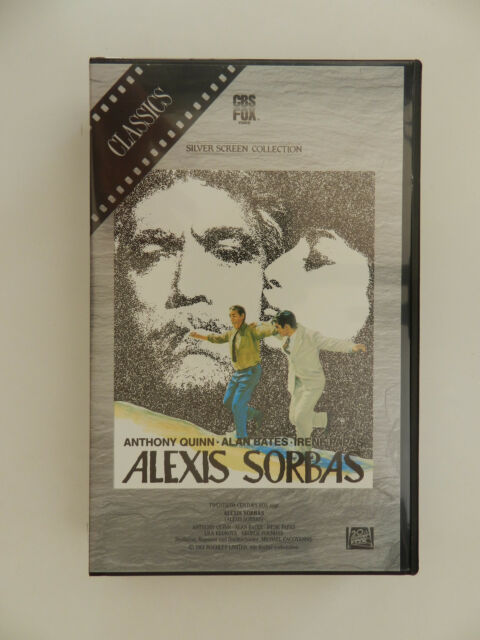 VHS Video Kassette Alexis Sorbas Anthony Quinn Silver Screen Collection