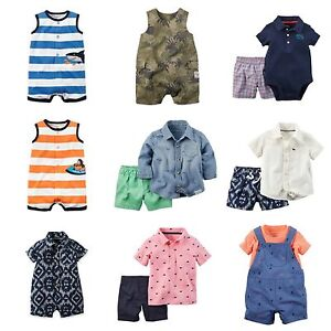 24be98768 Details about NWT Carter's Infant Boy 1 & 2-Pc Outfits Sets Sizes 0-24 Mo  Summer Shorts Romper