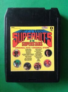 SUPER-HITS-OF-THE-SUPER-STARS-K-TEL-TU-2458-8-Track-Tape