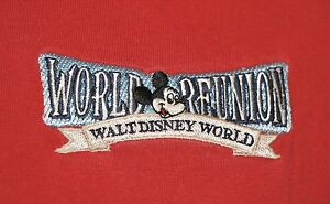 Vintage-1996-Walt-Disney-World-Reunion-25TH-Anniversary-Polo-Shirt-XL-Mickey