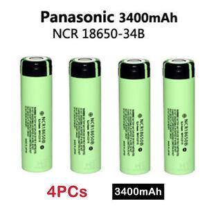 4 X Genuine Panasonic Ncr18650b 3400mah 18650 Rechargeable