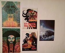 5 carte postale  de Druillet Guerre du feu Salambo IV Star Wars Nom de la rose
