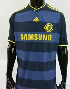promo code 20c82 e5e09 Details about The Blues 2009-10 adidas Chelsea FC Away Shirt SIZE L (adults)