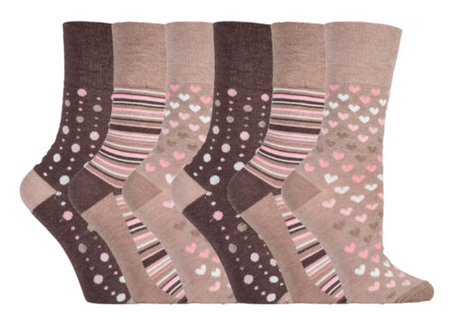 Gentle Grip 6 Pairs Ladies Breathable Loose Soft Top Non Elastic Bamboo Socks
