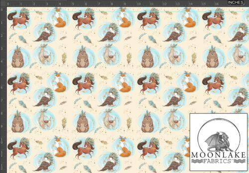 Cute Boho Animal Fabric 100/% Quality Cotton Poplin *Exclusive*