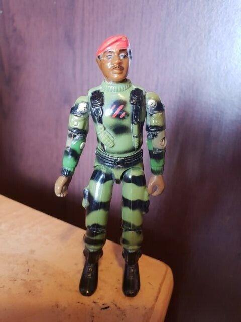 Jammer G.I. Joe Figura de acción de la fuerza 1983 Europea Hasbro Figura Vintage