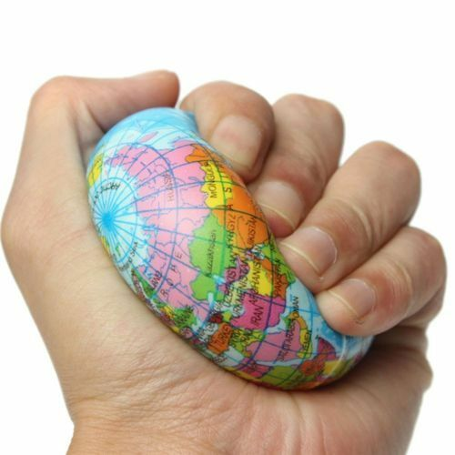 Mini funny world map foam earth globe stress bouncy ball atlas resntentobalflowflowcomponenttechnicalissues gumiabroncs Choice Image