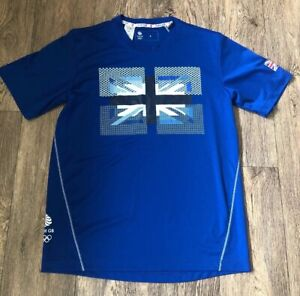 Blue-Team-GB-T-Shirt-Top-Olympics-Size-Small