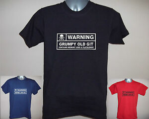 MENS-FUNNY-T-SHIRT-WARNING-GRUMPY-OLD-GIT-MEMORY-LOSS-etc-S-to-5XL-Dad