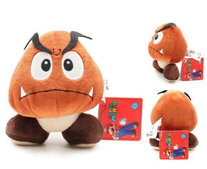 X Mas Nintendo Super Mario Goomba Plush Doll Brown Mushroom Figure