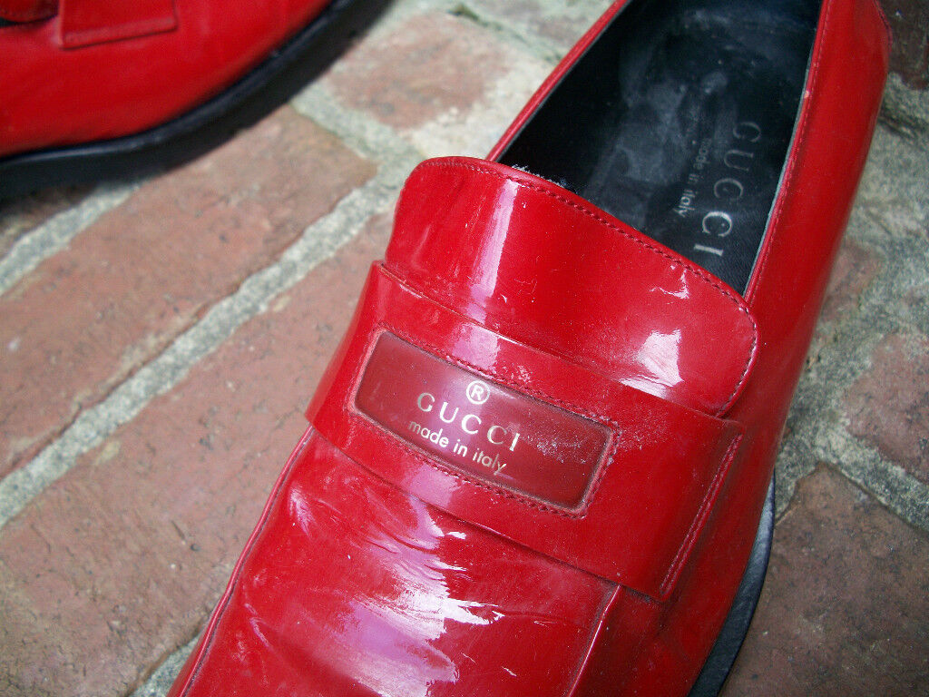 AUTHENTIC VINTAGE GUCCI LIPSTICK RED SHINY PATENT… - image 3
