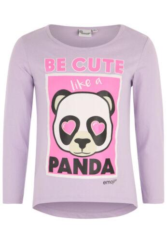 Unicorn Long Sleeve T Tee Shirt Top Girls Kids Official Licensed Emoji Panda