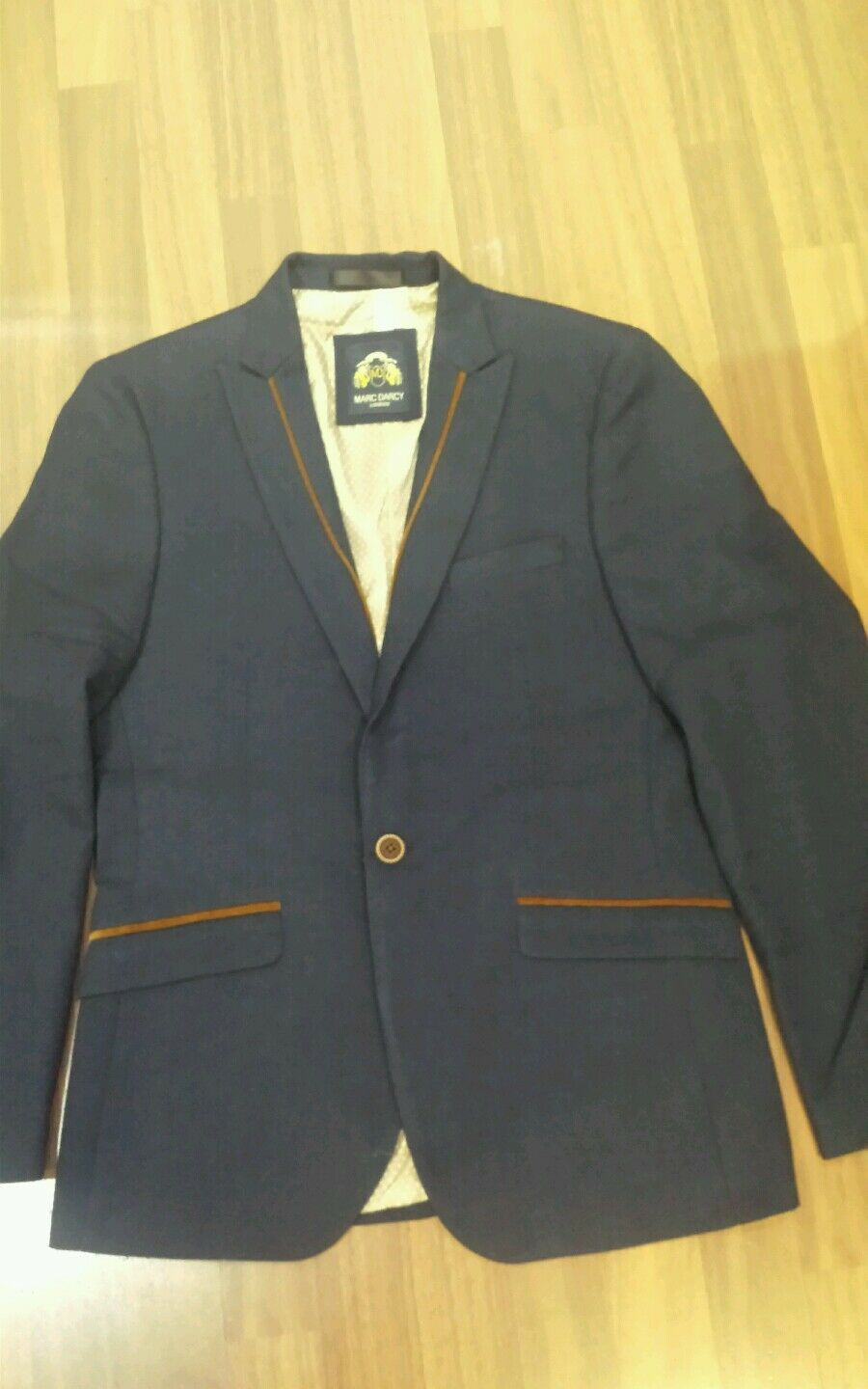 Mens designer Marc Darcy Lewis smart blazer colour bluee size 46R sale cheap