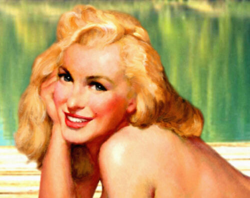 Michigan Lake Marilyn Monroe Pinup Wolverine State Travel Poster Art Print 294