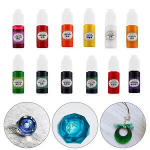 24-Colores-10ml-pigmento-Resina-liquido-colorante-UV-Resina-Epoxi-Para-Joyeria-hagalo-usted-mismo