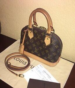 69d42447cd4 Details about LOUIS VUITTON Monogram Alma BB Handbag Leather Strap Shoulder  Crossbody Bag
