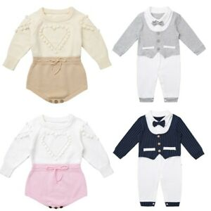 Newborn-Baby-Romper-Boys-Girls-Jumpsuit-Outfits-Infant-Bodysuit-Casual-Clothes