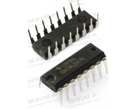 2PCS SN74LS47N 74LS47 BCD-7 SEG DECODER//DRVR 16-DIP NEW