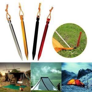 10X-15Cm-Heringe-Aluminium-Zelt-Stange-Mit-Seil-Im-Freienzelt-Nagel-Peg-Camping