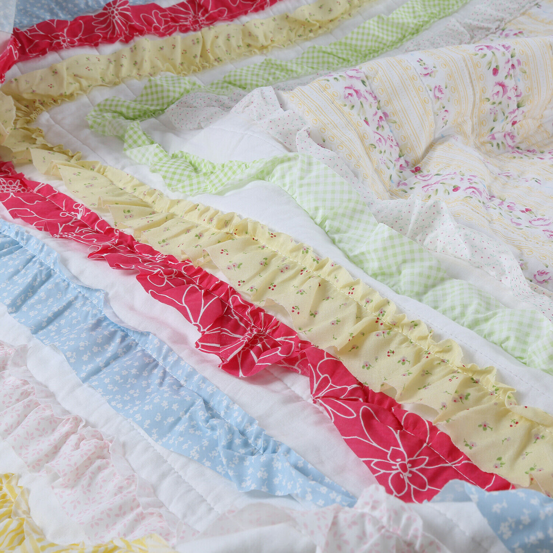 Petri Ruffle Lace Cotton 100%Cotton Quilt Set, Bettspread, Startseitelet