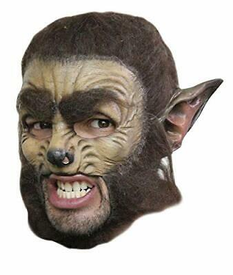 WEREWOLF CHINLESS HEAD MASK WITH CHINSTRAP LATEX HORROR HALLOWEEN