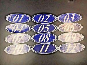 Two Digit Oval Model Year Stickers, Car Dealer Windshield Stickers (EZ-225)