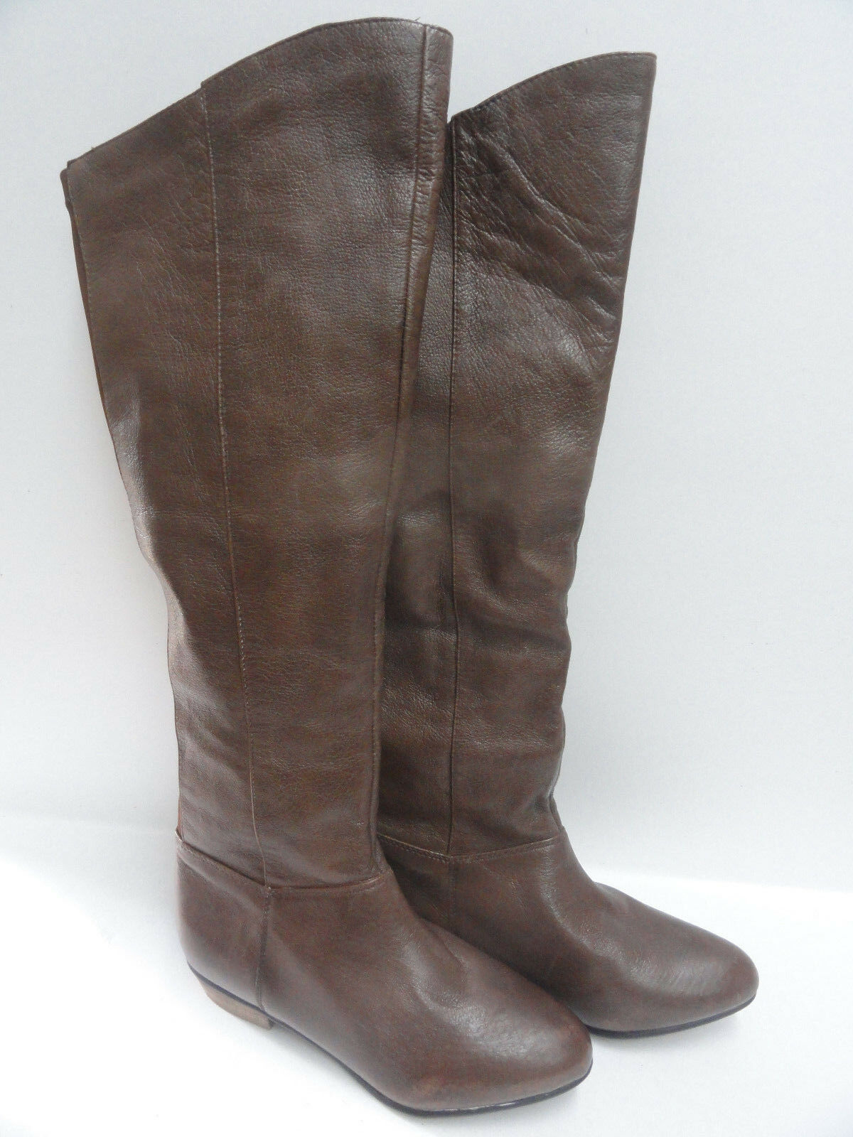 Steve Maddem Brown Leather Boots Size 5