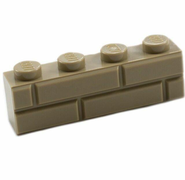 100 NEW DARK TAN 1x2 LEGO MASONRY BRICK PIECES bulk part 98283 wall brown