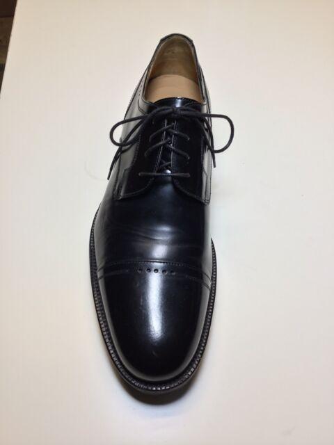 Johnston & Murphy Black Cap Toe Oxford Dress Shoes Size 10 D