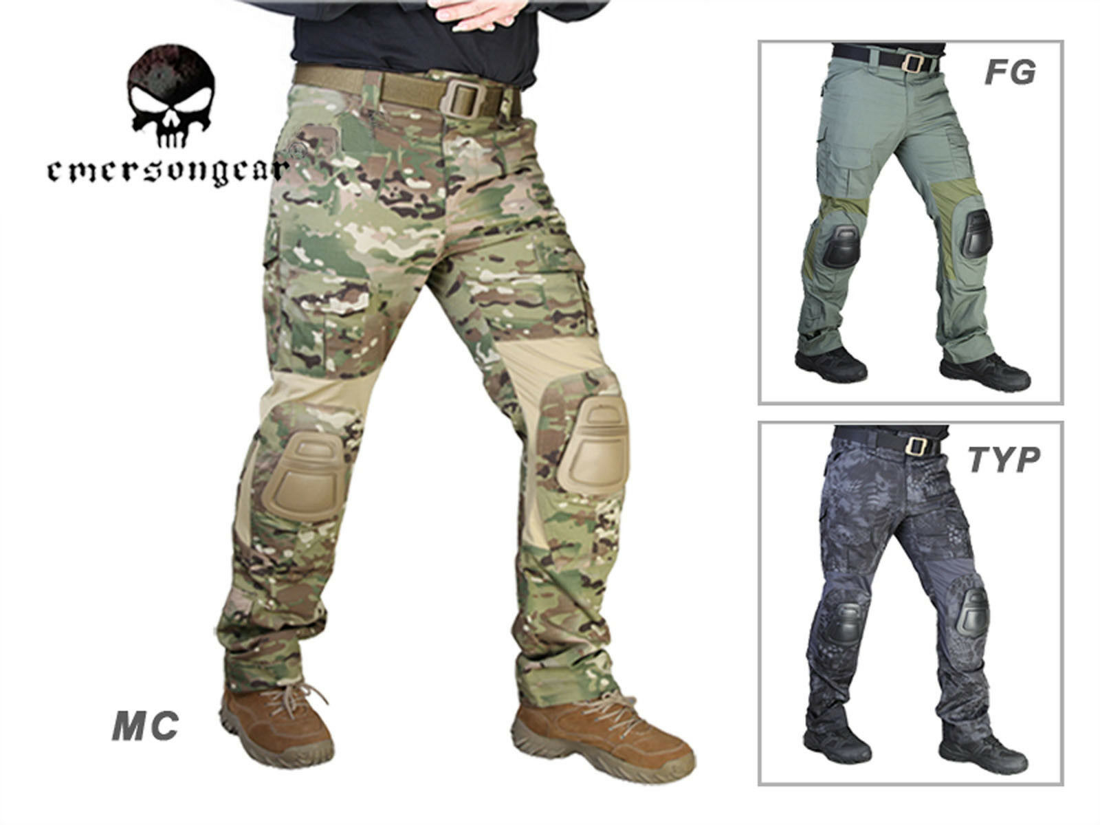 Emerson G2 Tactical Pants with Knee Pads Airsoft Hunting Trousers EM7038