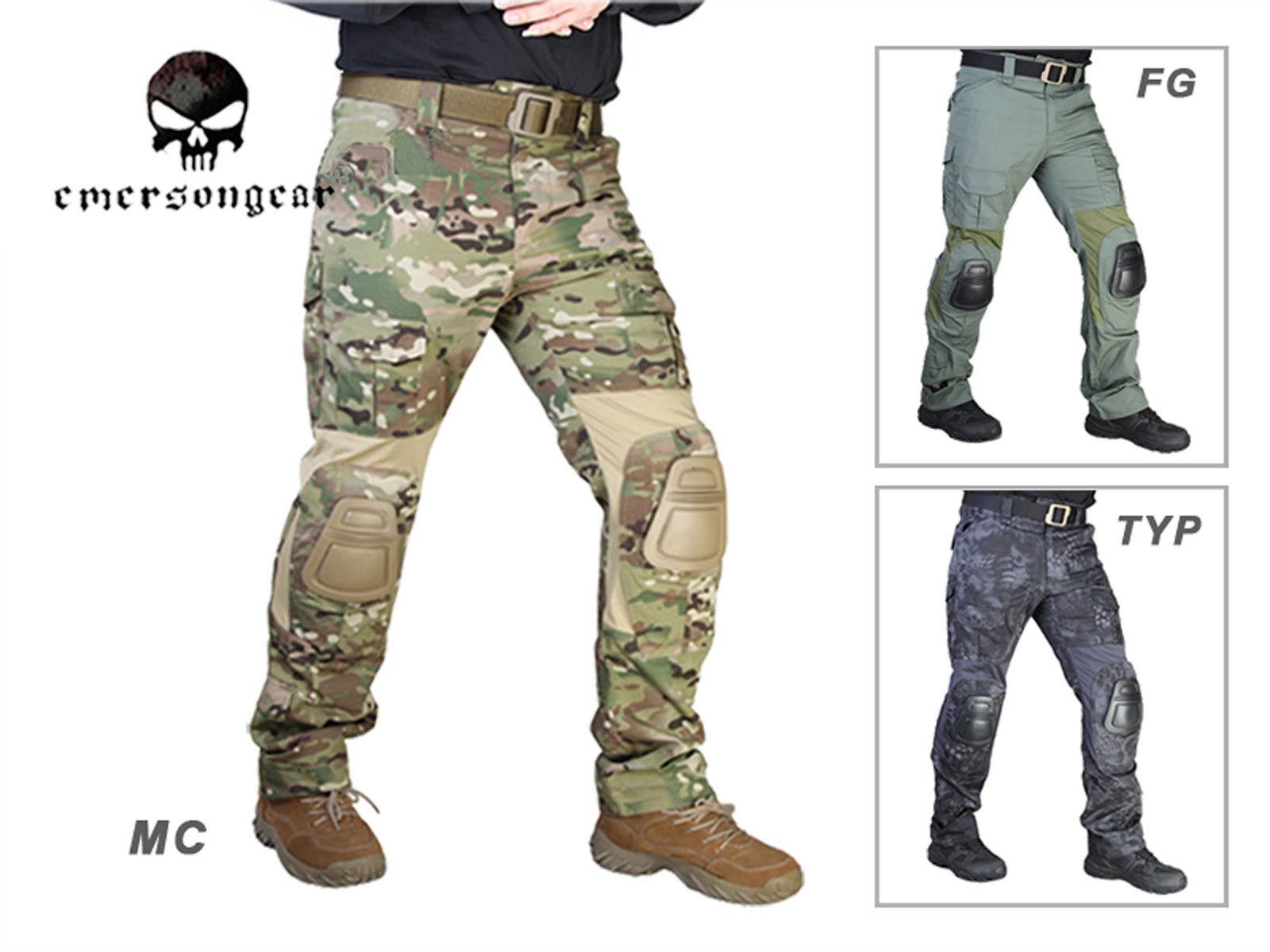 Emerson G2 Tactical Pantalones Con Rodilleras Airsoft Caza Pantalones EM7038
