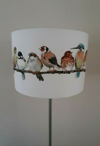Birds Drum Lampshade in Laura Ashley Garden Birds Fabric Handcrafted 20,30,40cm